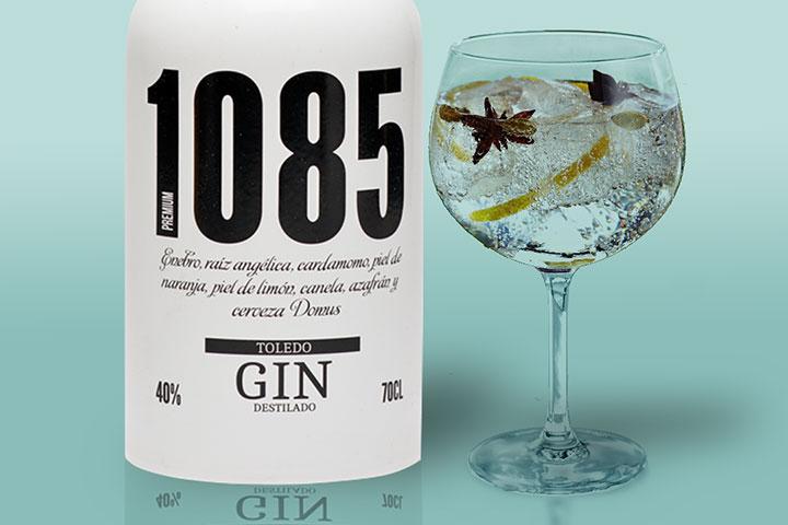 gin tonic 1085 bambú, ginebra hecha con cerveza, ginebra toledana, ginebra de Toledo