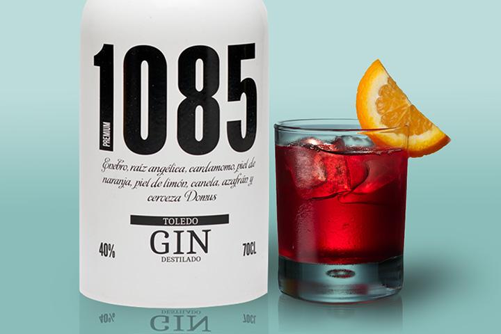 gin tonic 108 Negroni, ginebra hecha con cerveza, ginebra toledana, ginebra de Toledo