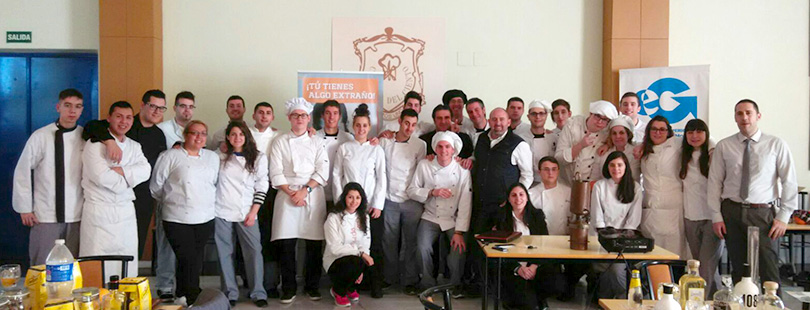 Master Class, Gin 1085, Toledo, Escuela Superior de Gastronomía y Hostelería de Toledo, Acuerdo
